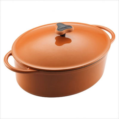 Cast+Iron+5_25-Quart+Covered+Oval+Casserole+in+Orange