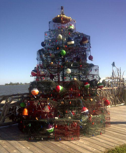 Crab trap christmas tree